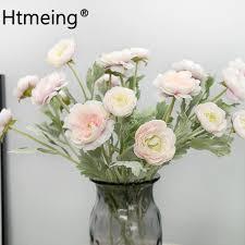 <b>1PCS Artificial Ranunculus</b> Flowers Rose Bush Silk Flowers Bud ...