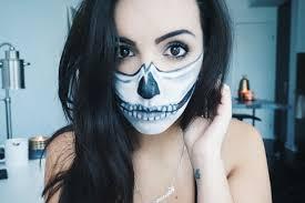 easy half skull makeup tutorial 2016 by candra cathcart 2016 06 21