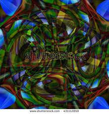 green black mesmerizing: brick red mustard yellow olive green black twirl scribble twist turn circle abstract design pattern symmetrical