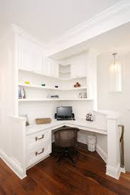 traditional home office traditional home office idea in new york with a built in desk built in office desk plans