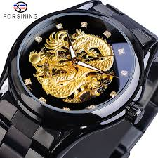 <b>Forsining Dragon Skeleton</b> Automatic Mechanical Watches Men ...