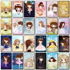 Japan & Korea DIY 5D <b>Diamond</b> Embroidery <b>Cartoon Girl Full</b> ...