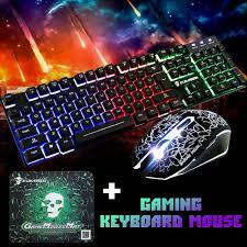 Gaming Keyboard and Mouse Set <b>T6 Rainbow Backlight Usb</b> ...