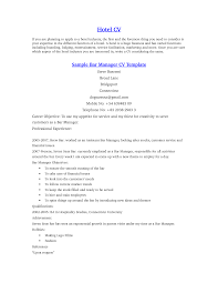 hotel job resume sample  bar manager resume samples  hotel front    hotel job resume sample