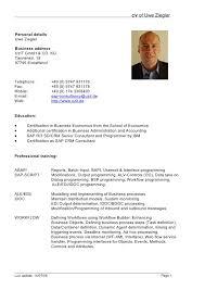 curriculum vitae resume format doc  curriculum sample vitae cv    german resume format example