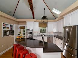 kitchen cathedral ceiling ideas popular agreeable vaulted ceilings