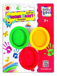 kribly boo краски пальчиковые 12 цветов