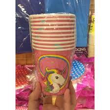 <b>Unicorn</b> Paper <b>Cups</b> (<b>10pcs</b>) | Shopee Philippines