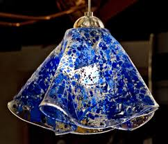 art glass blue pendant light click for full image art glass lighting fixtures