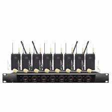 <b>Wireless SystemX8600 Professional Microphone</b> 8 Channel VHF ...