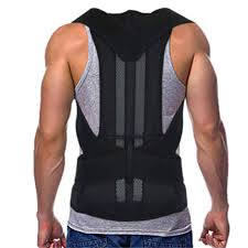 Adjustable Back Support Belt Back <b>Posture Corrector</b> Shoulder ...