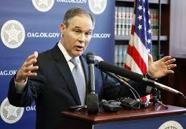 Risultati immagini per Oklahoma attorney general Scott Pruitt