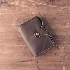 <b>Genuine Leather</b> Journal Handmade Notebook A7 Refillable ...
