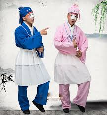 2019 <b>Chinese Ancient Opera Clowns</b> Opera Tea Waiter Clothing ...