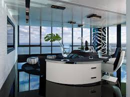 home office living room example of a minimalist home office design in miami with white walls chic office ideas 15 chic
