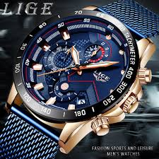 LIGE <b>Fashion Mens</b> Watches Top Brand Luxury WristWatch <b>Quartz</b> ...