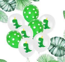 <b>Cartoon Dinosaur Latex</b> Balloon 12 In Green Dot <b>Dinosaur</b> Balloons ...