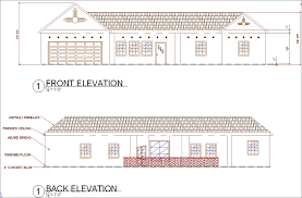 House Plans With Front And Back Views