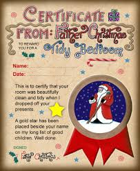 santa certificates rooftop post printables certificate from santa saying well done for cleaning your room