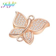 Ali Moda Micro Pave Crystals Copper Butterfly Charm <b>Connectors</b> ...