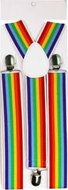 <b>Children Rainbow Strap Clip</b> Colorful Striped Baby Suspenders Belt ...