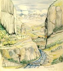 rivendell looking east j r r tolkien