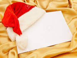 blank christmas invitation red santa cap at the corner stock blank christmas invitation red santa cap at the corner stock photo 5795509