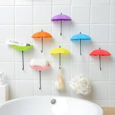 <b>3Pcs</b> Cute Colorful <b>Umbrella</b> Wall Hook Hair Pin <b>Key Holder</b> ...