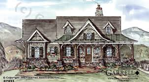 Home Plan  Luxury House Plans  Custom architect home design    wind song cottage house plan   front elevation