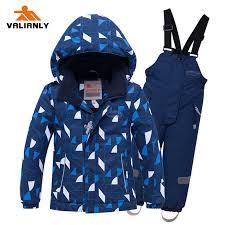 <b>2019 Winter</b> Kids Ski Suit Children Boys <b>Snow suit</b> Waterproof Kids ...