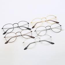 Oval <b>Frame Women</b> Metal <b>Frame Eye Glasses</b> Wrap Eye Wear <b>Oculos</b>