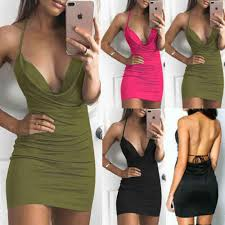 2019 Sexy <b>Women's Bandage Bodycon</b> Solid Strap Sleeveless ...