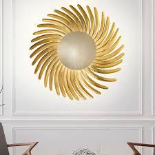 Shine <b>LED gold leaf</b>-plated LED wall lamp | Lights.co.uk