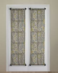 flat roller shades pid curtain idea with rod at top and bottom to dress up bedroom to balcony