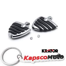 KapscoMoto: Krator <b>Wing</b> Style <b>Rear Foot Peg</b> Foot Rests Chrome ...