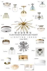 modern flush mount  semiflush mount lighting ideas — chic