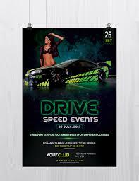drive speed car event psd flyer template net drive speed car event is psd flyer template