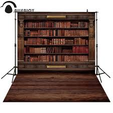 <b>Allenjoy photography backdrop</b> vintage bookshelf classical library ...
