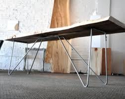 frejm console table live edge maple slab folded steel metal legs live edge tree industrial chic furniture west coast design chic industrial furniture