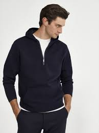 <b>100</b>% <b>cotton knit</b> hoodie - <b>Men</b> - Massimo Dutti