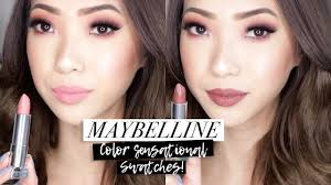 NEW <b>Maybelline Color Sensational</b> MATTE Lipstick Swatches ...