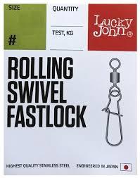 Купить Вертлюг с <b>застежкой Lucky John Pro</b> Series Rolling Swivel ...