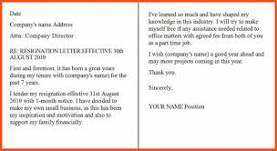 resignation letter sample one month notice period to quit      formal resignation letter  month notice as formal resignation letter sample     of company