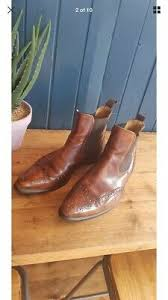 JONES Bootmaker Mens <b>Brogue Chelsea</b> Boots with <b>Pointed Toe</b> ...