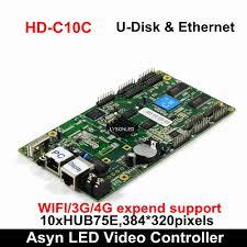 <b>Huidu</b> HD D10 U disk & Ethernet <b>Asynchronous Full Color</b> LED ...