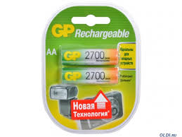 <b>Аккумуляторы GP</b> 2шт, <b>AA</b>, <b>2700mAh</b>, NiMH — купить по лучшей ...