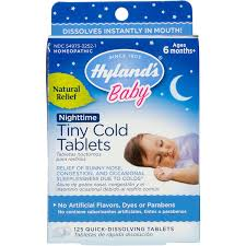 Hyland's <b>Baby</b> Nighttime <b>Tiny Cold</b> Tablets, Natural Relief of Runny ...
