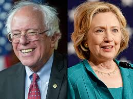 Image result for Hillary Bernie