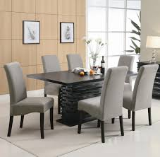 contemporary kitchen wood dining table white