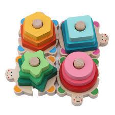 Купить New Baby Toys Shape Building Color Block Set Early ...